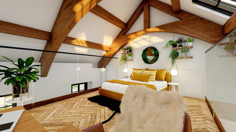 1SLF APT3 - Mezzanine Bedroom 1